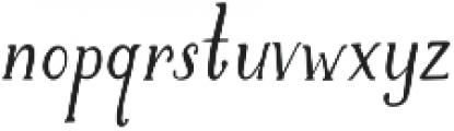 Brioche otf (400) Font LOWERCASE