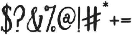 Brioche otf (700) Font OTHER CHARS
