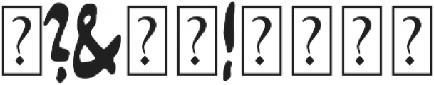 Bristle otf (400) Font OTHER CHARS