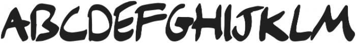 Bristle otf (400) Font LOWERCASE