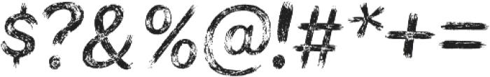 Bristles Regular otf (400) Font OTHER CHARS