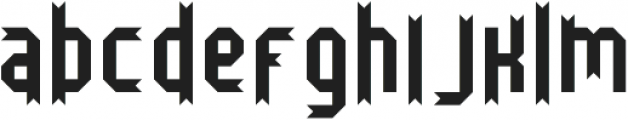 Bristol and Bath ttf (400) Font LOWERCASE