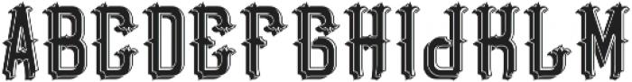 BristolFont LightShadow otf (300) Font UPPERCASE