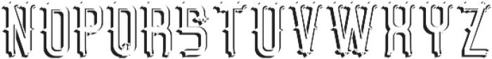 BristolFont LightShadowFX otf (300) Font LOWERCASE