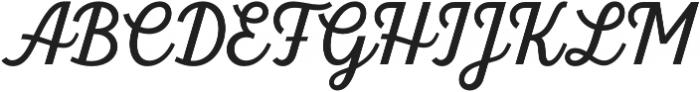 Britton Script otf (400) Font UPPERCASE