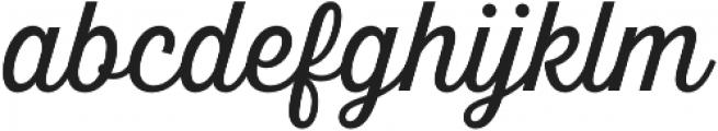 Britton Script otf (400) Font LOWERCASE
