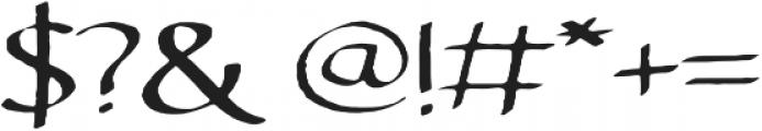Brixton Hand Sans otf (400) Font OTHER CHARS
