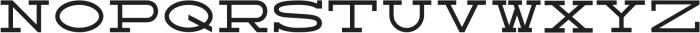Broadsheet Regular otf (400) Font UPPERCASE