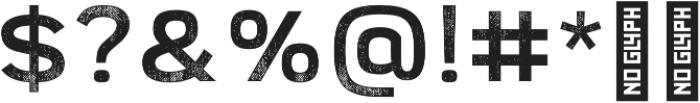 Broadwell Distressed otf (400) Font OTHER CHARS