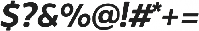 Brocha Bold Italic otf (700) Font OTHER CHARS