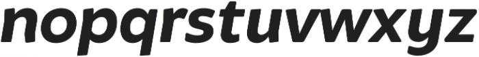 Brocha Bold Italic otf (700) Font LOWERCASE