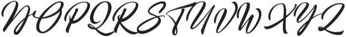 Broda Regular otf (400) Font UPPERCASE