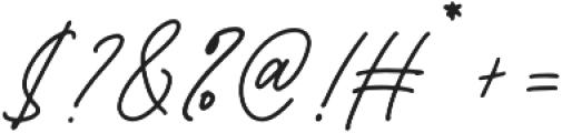 Bromrose Sands Signature otf (400) Font OTHER CHARS