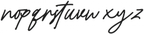 Bromrose Sands Signature otf (400) Font LOWERCASE