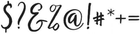 Bronetto Script Regular otf (400) Font OTHER CHARS