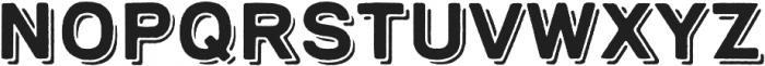Bronn Rust Bold Fill Shadow otf (700) Font UPPERCASE