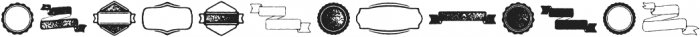 Bronn Rust Extras Ribbons G ttf (400) Font UPPERCASE