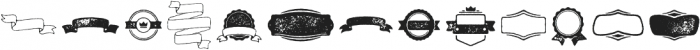 Bronn Rust Extras Ribbons G ttf (400) Font LOWERCASE