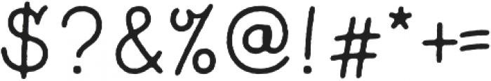 Bronn Rust Script Plain ttf (400) Font OTHER CHARS