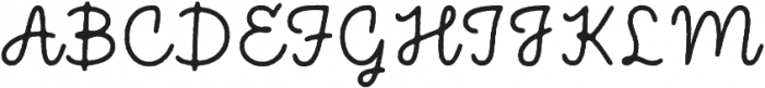 Bronn Rust Script Plain ttf (400) Font UPPERCASE