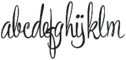 Bronze Script otf (400) Font LOWERCASE