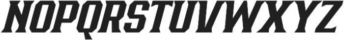 Bronzier Medium Italic otf (500) Font UPPERCASE