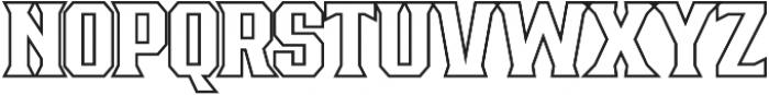 Bronzier Outline otf (400) Font UPPERCASE