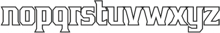 Bronzier Outline otf (400) Font LOWERCASE