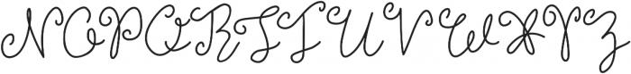 Brooklyn Girl Light ttf (300) Font UPPERCASE