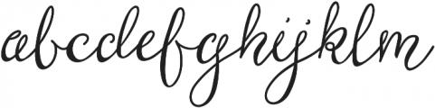 Brooklyn Girl Regular ttf (400) Font LOWERCASE