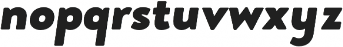 Brooklyn Heritage Sans Black Italic otf (900) Font LOWERCASE