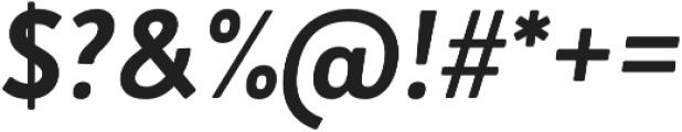Brooklyn Heritage Sans Cn Bold Italic otf (700) Font OTHER CHARS