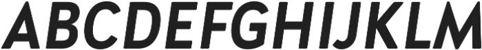 Brooklyn Heritage Sans Cn Bold Italic otf (700) Font UPPERCASE
