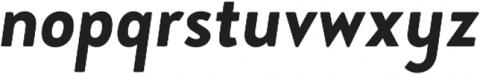 Brooklyn Heritage Sans Cn Bold Italic otf (700) Font LOWERCASE