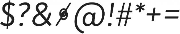 Brooklyn Heritage Sans Cn Light Italic otf (300) Font OTHER CHARS