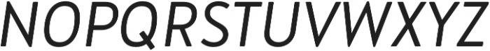 Brooklyn Heritage Sans Cn Light Italic otf (300) Font UPPERCASE
