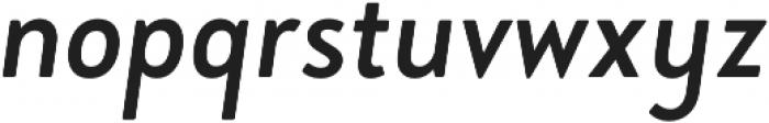 Brooklyn Heritage Sans Cn Regular Italic otf (400) Font LOWERCASE