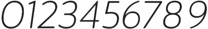 Brooklyn Heritage Sans Thin Italic otf (100) Font OTHER CHARS