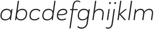 Brooklyn Heritage Sans Thin Italic otf (100) Font LOWERCASE