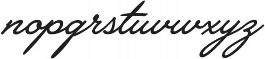 Brooklyn Heritage Script otf (400) Font LOWERCASE