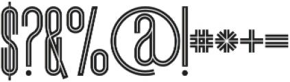 Brooklyn Inline otf (400) Font OTHER CHARS
