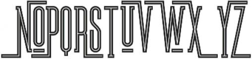 Brooklyn Inline otf (400) Font UPPERCASE