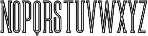 Brooklyn Inline otf (400) Font LOWERCASE