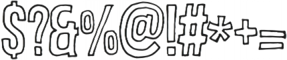 BrooklynCoffe Outline otf (400) Font OTHER CHARS