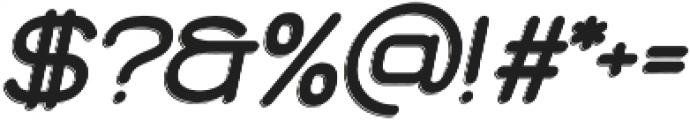 Brookset Shadow Oblique otf (400) Font OTHER CHARS