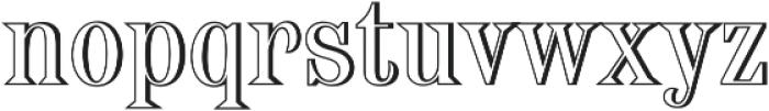 Broondy Shadow ttf (400) Font LOWERCASE