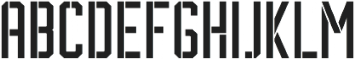 BrotherJhonStencil ttf (400) Font LOWERCASE