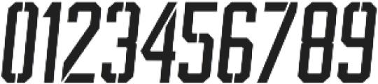 BrotherJhonStencilItalic ttf (400) Font OTHER CHARS