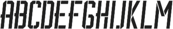 BrotherJhonStencilItalic ttf (400) Font UPPERCASE