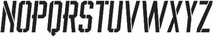 BrotherJhonStencilItalic ttf (400) Font LOWERCASE